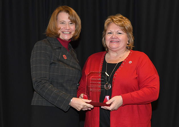 Cathann A. Kress, vice president for Agricultural Administration & Dean, and Debbie Carpenter, Lawrence County EFNEP program assistant