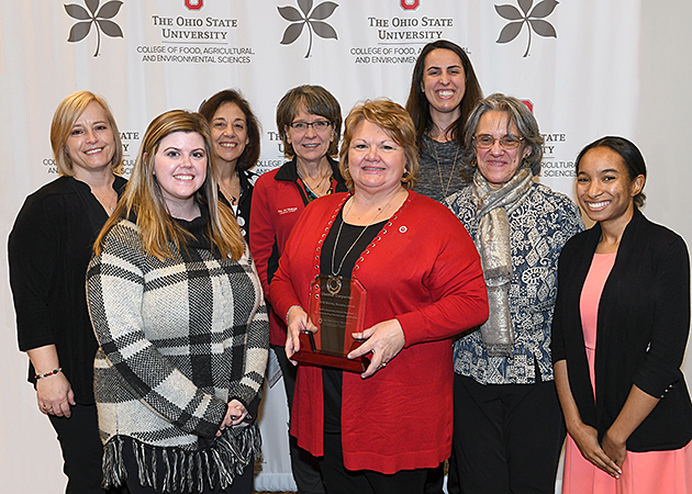 (l to r) Jacqueline Kirby Wilkins, Paige Matney, Pat Bebo, Peggy Jensen, Debbie Carpenter, Amy Habig, Maria Lambea and Ayanna Terry