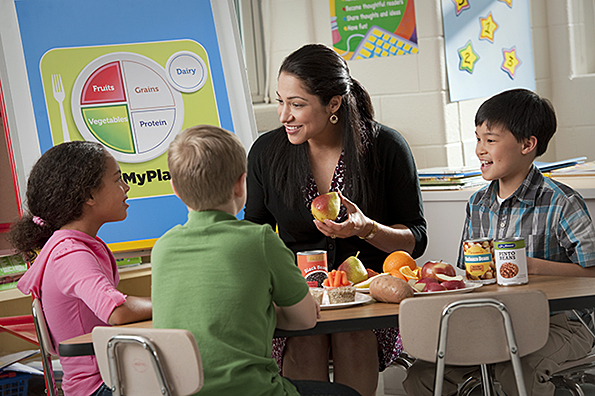 Educator kids and MyPlate