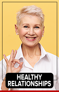 Confident woman showing OK sign
