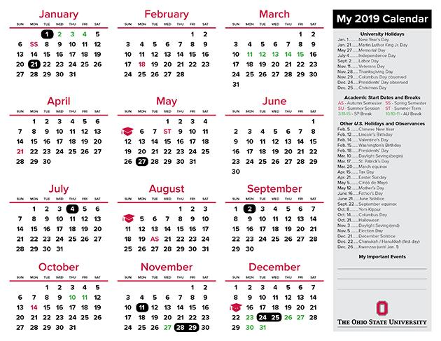 2019 FCS My Calendar