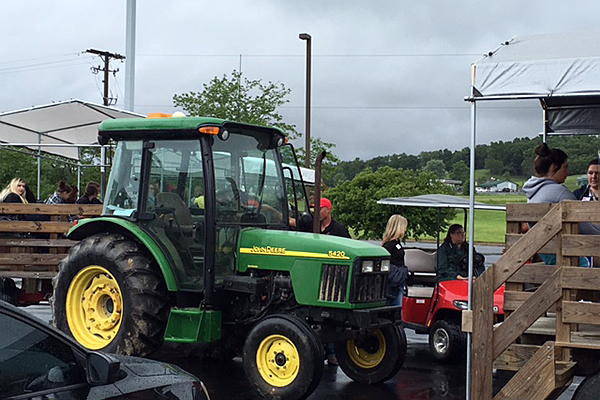 Tractor on display