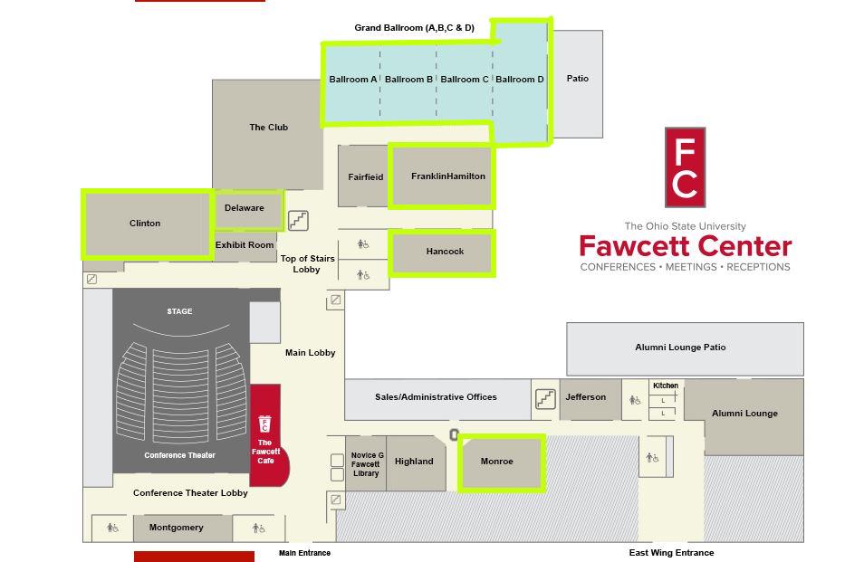 fawcett center map